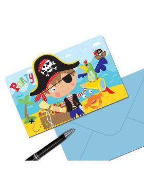 Little Pirate Invitation Postcards, pk8