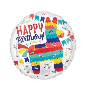 Llama Pinata Party Standard Foil Balloon 18""