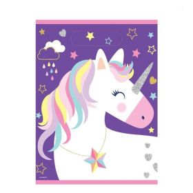 Unicorn Birthday Party Bags, pk8