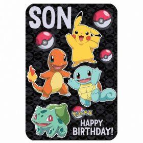 Pokemon Son Birthday Card