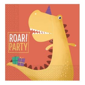 Dinosaur Roar Party Napkins 33cm x 33cm, pk20