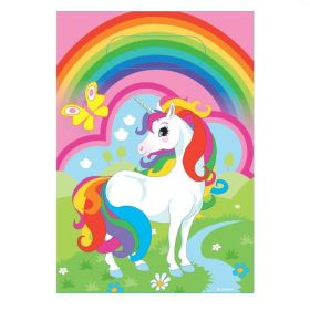 Unicorn Plastic Party Bags pk8