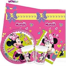Dinsey Minnie Mouse Tableware Pack for 16