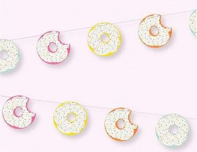 Donut Party Cut Outs Garland 7ft