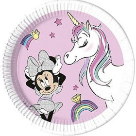 Minnie Unicorn Dreams Party Paper Plates 23cm, pk8