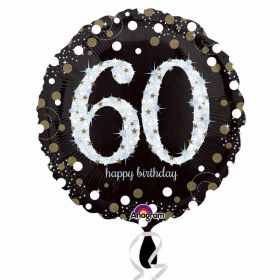 Gold Sparkling Celebration 60th Birthday Standard Foil Balloon