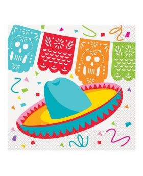 Mexican Fiesta Party Napkins 33cm x 33cm, pk16