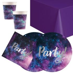 Galaxy Party Tableware Pack for 16