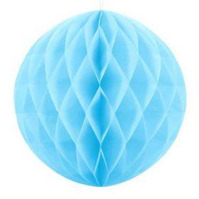 Light Blue Paper Honeycomb Ball 30cm
