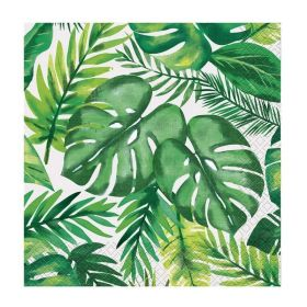 Palm Tropical Luau Lunchoen Napkins 33cm x 33cm, pk16
