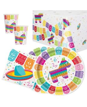 Mexican Fiesta Party Tableware Pack for 16