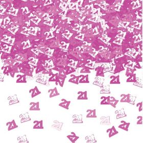 40th Birthday Pink Shimmer Metallic Confetti
