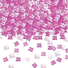 40th Birthday Pink Shimmer Metallic Confetti