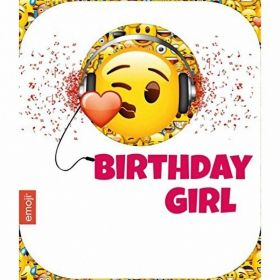 Emoji Birthday Girl Birthday Card