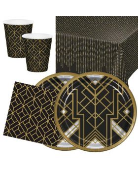 Roaring 20's Party Tableware Pack for 16