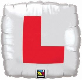 Hen Night L Plate Square Foil Balloon 18''