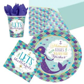 Mermaid Wishes Party Tableware Pack for 8