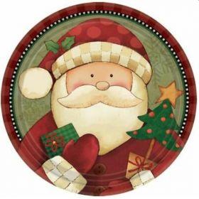 Cozy Santa Christmas Party Plates