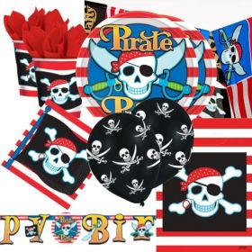 Pirate Party Deluxe Party Pack for 16
