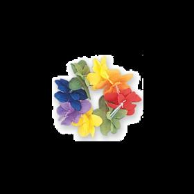 Hawaiian Lulu Rainbow Flower Stretch Bracelet