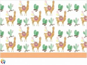 Llama Party Tablecover 1.2m x 1.8m