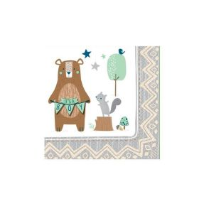 Bear-ly Wait Beverage Napkins 25cm x 25cm, pk16