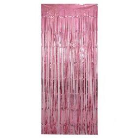 Metallic Light Pink Foil Door Curtain