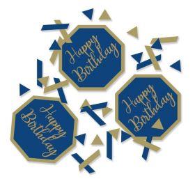 Navy & Gold Geode Party Happy Birthday Confetti 14g