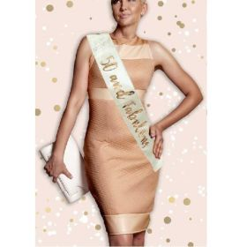 Cream and Rose Gold 50th Birthday Sash
