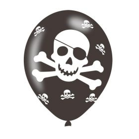 "Pirate Latex Ballons 11"", pk6"