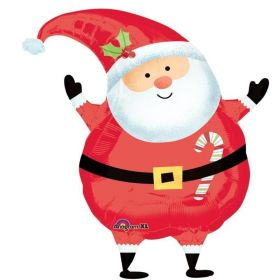 Joyful Santa Junior Shape Foil Balloon 24''