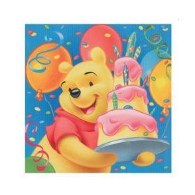 Winnie The Pooh Birthday Napkins 33cm x 33cm, pk20