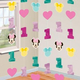 Minnie Mouse Fun to Be One String Decorations 2.13m, pk6