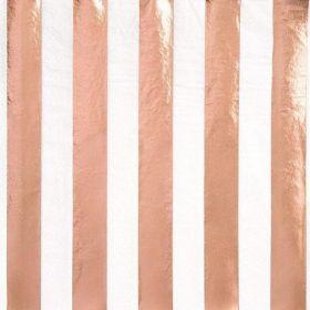 Rose Gold Foil Striped Luncheon Napkins, pk16