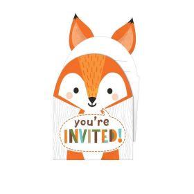 Wild Woodland Animals Invitations, pk8