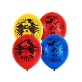 Mickey Mouse 4 Sided Latex Balloons pk6