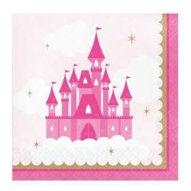 Little Princess Party Napkins 33cm x 33cm, pk16