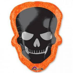 Sophisticated Halloween Skull Supershape Foil Balloon 24""