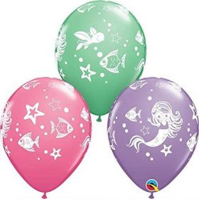 Merry Mermaid & Friends Latex Balloons