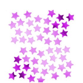 Hot Pink Stars Shape Confetti