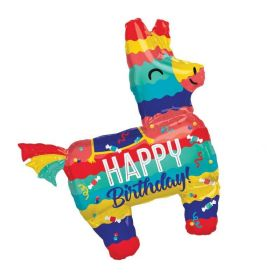 "Llama Pinata Party SuperShape Foil Balloon 29"" x 33"""