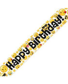 Emoji Birthday Foil Banner 2.7m