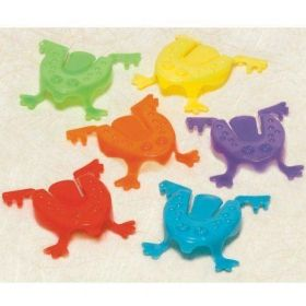 JUMPING FROG,  5.5CMS,  4 ASST COLOURS