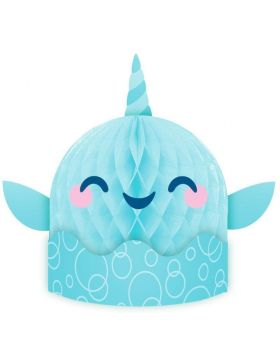 Cute Narwhal Party Honeycomb Centrepiece 35cm