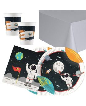 Space Astronaut Party Tableware Pack for 16