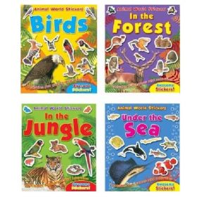Animal World Stickers Book