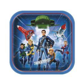 Thunderbirds Square Plates 23cm x 23cm, pk8