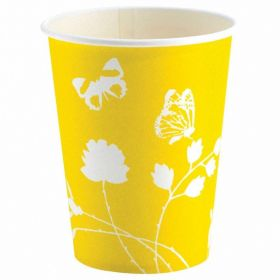 Yellow Party Paper Cups, pk8