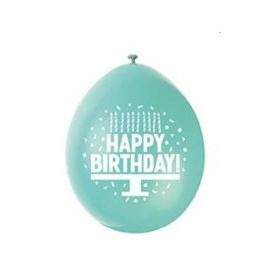 "Happy Birthday Latex Balloons 9"", pk10"