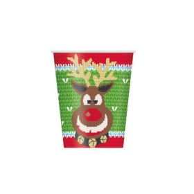 Ugly Sweater Xmas Cups 270ml, pk8